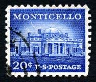 Monticello US Postage Stamp Royalty Free Stock Photos