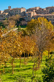 Monticiano, Toskana stockbild