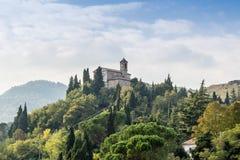 Monticino的保佑的维尔京的圣所 库存照片