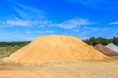 Monticule blond de sol image libre de droits