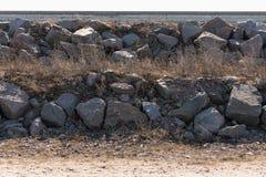 Monticule de grandes pierres de granit en gros plan comme fond texturis image stock