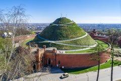 Monticule de Kosciuszko à Cracovie, Pologne Photographie stock