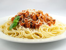 Monticule des spaghetti Photo libre de droits