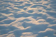 Monticules de neige Photo stock