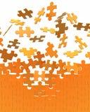 Montieren der Puzzlespielwand Stockfotografie