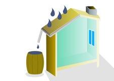 Montieren des Wassers lizenzfreie abbildung
