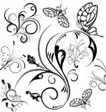 Montieren Sie Blumenrand Stockfotos