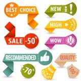 Montieren Sie Einkaufen-Zeichen lizenzfreie abbildung
