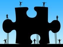 Montieren Sie letztes Stück des Puzzlespiels Lizenzfreie Stockbilder