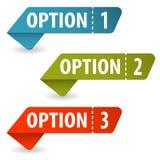 Montieren Sie Options-Zeichen stock abbildung