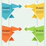 Montieren Sie PapierOrigami Pfeil lizenzfreie abbildung