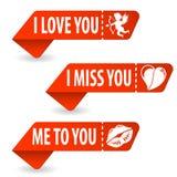 Montieren Sie Valentinsgruß-Tageszeichen lizenzfreie abbildung