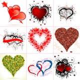 Montieren Sie Valentinstag-Innere stock abbildung