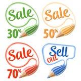 Montieren Sie Verkaufs-Zeichen Lizenzfreie Stockbilder