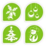 Montieren Sie Weihnachtsaufkleber stock abbildung