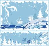 Montieren Sie Weihnachtsfeld lizenzfreie abbildung