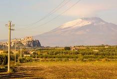 Montierung Ätna - Sizilien stockfoto