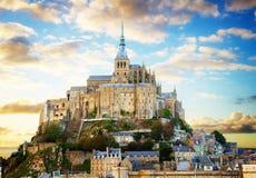 Montierung des Mont Saint Michel, Frankreich Lizenzfreie Stockfotos