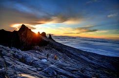 Montierung Kinabalu stockbilder
