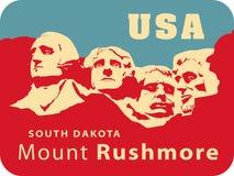 Montierung Rushmore lizenzfreie abbildung
