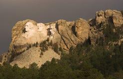 Montierung Rushmore Morgen Stockfotos