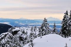 Montierung Seymour im Winter stockfotografie