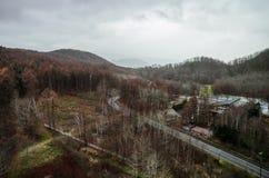 montierung Usu-Drahtseilbahn Stockfoto
