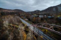 montierung Usu-Drahtseilbahn Stockfotos