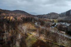 montierung Usu-Drahtseilbahn Stockfotografie