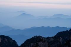 Montierunghuangshan-Sonnenuntergang Lizenzfreies Stockfoto