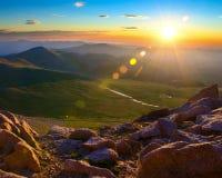 Montierungs-Evans-Sonnenaufgang Lizenzfreie Stockfotos