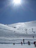 Montierungs-Hutt-Ski-Felder Stockbild
