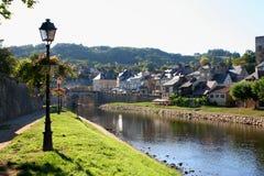 Montignac, rivier Vezere Stock Fotografie