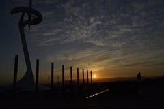 Montjuïc kommunikationstorn Arkivfoton