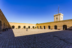 Montjuïc slott Arkivbild