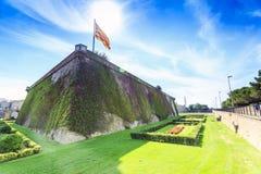 Montjuïc Castle, Barcelona, Catalonia, Spain royalty free stock image