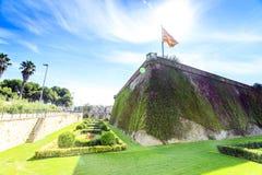 Montjuïc Castle, Barcelona, Catalonia, Spain royalty free stock photo