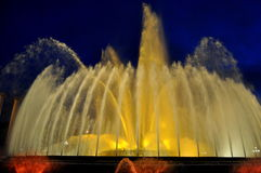 montjuic喷泉的魔术 库存图片