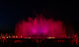 montjuic喷泉的魔术 免版税库存照片