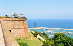 Montjuic城堡,巴塞罗那 库存图片