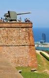 Montjuic城堡,巴塞罗那 库存照片
