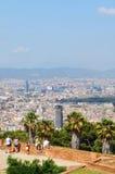 Montjuic城堡,巴塞罗那 免版税库存图片