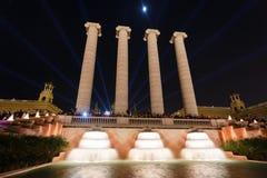 Montjuic,巴塞罗那魔术喷泉 图库摄影
