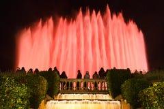 Montjuic,巴塞罗那魔术喷泉 免版税图库摄影