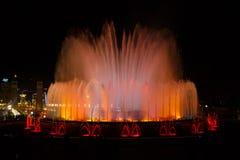 Montjuic,巴塞罗那魔术喷泉 免版税库存图片