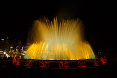Montjuic,巴塞罗那魔术喷泉 免版税库存照片