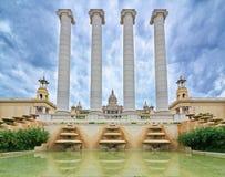全国宫殿在Montjuic,巴塞罗那,西班牙 库存照片