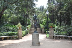 Montjuic Barcelona park. Photo of a statue in Montjuich, Barcelona Stock Images