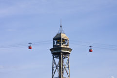 Montjuic Cable Car Royalty Free Stock Photo
