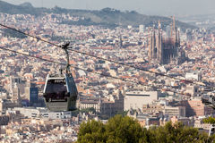 Montjuic Cable Car Barcelona Royalty Free Stock Images
